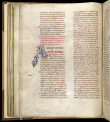 Inhabited Initial, In Pseudo-Isidore's 'Papal Decrees' f.41v